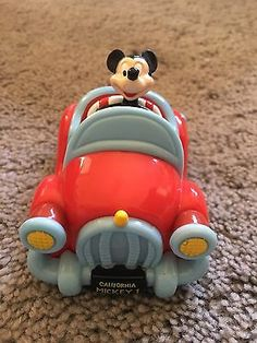 Mickey mouse pull & release toy car