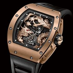 Very elaborate limited edition by Richard Mille dedicated to Jackie Chan. With 36 pieces quite limited, even for a low volume brand like Richard Mille Richard Mille, Jackie Chan, Rafael Nadal, Dragon Chine, Men's Accessories, Cool Watches, Watches For Men, Fancy Watches, Dragons