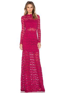 Nightcap Dixie Lace Maiden Maxi Dress in Sangria