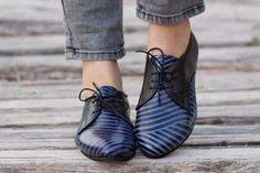 Free Shipping Leather Shoes Printed Oxford Shoes von BangiShop