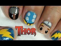 Thor Nail Art - YouTube