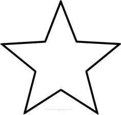 black and white star clipart - Yahoo Image Search Results Texas Outline, Flower Outline, Star Template Printable, Heart Template, Outline Pictures, Stylo 3d, Star Coloring Pages, Star Silhouette, Star Tattoos
