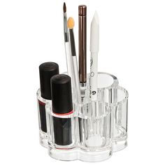 Clear storage to hold your Lipsticks, Eyeliner and brushes. Available at douglas.