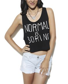Boring Laser Cut Crop Tank from Wet Seal I NEED THIS SHIRT!