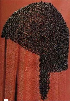 European riveted mail coif, 13th century, Musee de L'arme Inv.