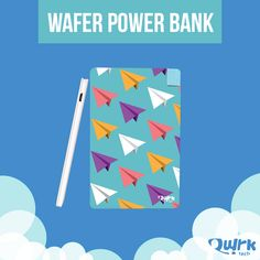 Super thin, super light and super powerful! Get your Wafer Power Bank today. http://quirktech.co/wafer-powerbank.html