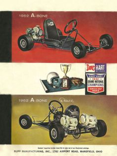 Vintage Beautiful 1962 Rupp Dart Kart A Bone Go Kart Ad   eBay