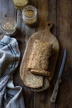 "This gluten-free, vegan bread recipe uses no leavening, and it bakes up into a dense, toothsome loaf that makes killer toast. Easy peasy and über-healthy, what's not to love? My holistic chiropractor, Ann Brinkley, is always on at me to eat more protein. ""What did you have for breakfast today?"" she'll ask as she digs … Continue reading Multi-Grain Nut + Seed Bread (gluten-free + vegan)"