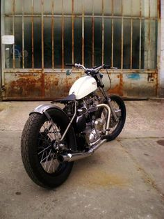 Triumph bobber motorcycle
