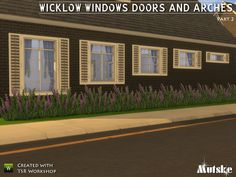 Wicklow windows, shutters, doors & arches 2 by mutske at TSR via Sims 4 Updates #Sims4