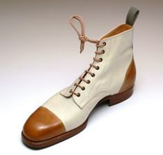 Model 403, sailor last, calf leather and canvas