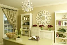 double bookcases by Chelle Design Group - http://www.houzz.com/photos/101997/-Her--Office-contemporary-home-office-chicago