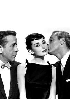 SABRINA (1954) ~ Humphrey Bogart, Audrey Hepburn, and William Holden