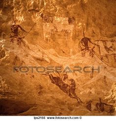 24 Neolithic Rock Painting In Ennedi Massif Sahara Desert Chad Africa View Large Photo Image