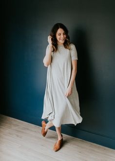 Nursing Friendly Swing Dress with Hidden Zippers | ROOLEE Mom