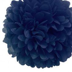 "14"" Navy Blue Tissue Paper Pom Poms"