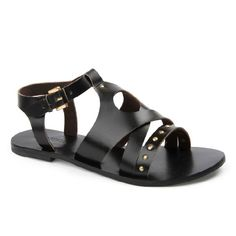 Carla in Black Leather Sandals, Journey, Shoes, Black, Women, Fashion, Moda, Zapatos, Shoes Outlet