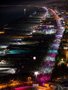 Alle jubelte für die Notte Rosa 2015 in #Rimini!  Waren Sie dabei?