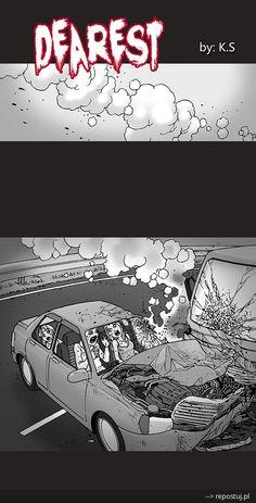 Repostuj.pl :: komiks-mysilenthorror-najdrozsza Silent Horror Comics, Creepy Comics, Creepy Stories, Horror Stories, Mundo Geek, Creepy Images, Comics Story, Sci Fi Art, Comic Strips