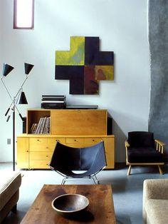 Warm modern interior design - living room