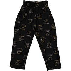 Army Black Knights Toddler Allover Logo Flannel Pajama Pants - Black