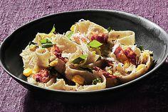 Tagliatelle with Fresh Corn Pesto recipe