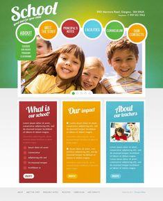 Kids Center PSD Template  #Center #Kids #Template Layout Web, School Website Templates, Image Slideshow, Web Themes, School Posters, Education Quotes For Teachers, Web Design Inspiration, Psd Templates, Brochure Design