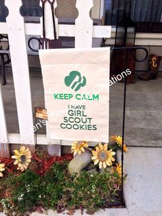 Girl Scout Garden Flag