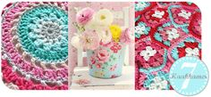 lots of patterns/tutes Granny Square Crochet Pattern, Crochet Squares, Crochet Blanket Patterns, Knitting Patterns, Crochet Afghans, Granny Squares, Love Crochet, Learn To Crochet, Diy Crochet