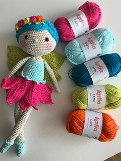 Tiny yarn, beautiful amigurumi fairy