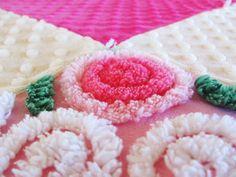 Hot pink chenille baby girl quilt PINK por moreChenilleChateau