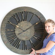 The Classic Rustic is a handmade roman numeral Statement Wall Clock that is designed to be a centrepiece in your living room adding uniqueness and character Rustic Background, Paint Background, Hand Carved, Hand Painted, Clock Display, Rustic Wall Clocks, Statement Wall, Shabby Chic Interiors, Roman Numerals