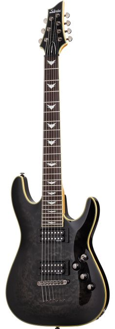 Schecter Guitar Research Omen Extreme-7 Electric Guitar See Thru Black