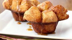Blogger Brooke McLay from Cheeky Kitchen shares a favorite recipe. Pillsbury® Biscuits are baked into muffins, coated in cinnamon and caramel, and served up hot.