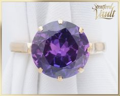 Items similar to BIRKS Vintage Color Change Sapphire Ring ~ Yellow Gold ~ mm Created Color Change Purple to Blue Sapphire ~ ~ GIA ~ on Etsy Color Change Sapphire, Vintage Colors, Wall Lights, Gems, Jewels, Trending Outfits, Create, Unique Jewelry, Handmade Gifts
