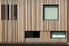 Wooden cladding, wooden facade, facade architecture, facade design, house d Wooden Cladding, Wooden Facade, Wood Architecture, Architecture Details, Facade Design, House Design, Building Front, House In The Woods, Cubes