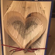 Book Folding Pattern - Double Hearts+ Free Instructions with Pictures Tips And Tricks, Book Folding Patterns Free, Old Book Crafts, Heart Outline, Folded Book Art, Easy, Love Heart, Free Pattern, This Or That Questions