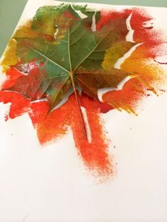 Arty Crafty Kids - Autumn Leaf Painting