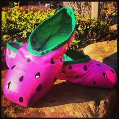 Watermelon pointe shoes!