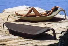 How better to impress your friends than with a sunlounger shaped like a leaf by Dedon. I love it!