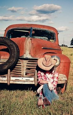 Nothing like a rusted old truck and boots to make you feel free