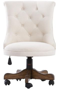 Cute little tufted chair for the home office. HomeDecorators.com #12DaysofDeals #homeoffice