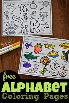 Free Cute Alphabet Coloring Pages, These super cute alphabet coloring pages are a fun way for toddler, Preschool, and kindergarten age kids to practice identifying letters and the sounds they make while strengthening fine motor skills and having fun. Preschool Literacy, Preschool Letters, Preschool Lessons, Preschool Worksheets, In Kindergarten, Coloring Worksheets, Printable Coloring, Free Printables For Preschool, Preschool Shapes