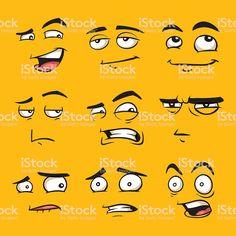 Cartoon Drawing Tips Funny cartoon faces with emotions. vector art illustration - Funny cartoon faces with emotions. Funny Faces Images, Funny Cartoon Faces, Cartoon Eyes, Cartoon Images, Face Images, Cartoon People, Images Photos, Cartoon Faces Expressions, Eye Illustration