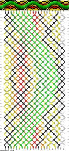 Muster # 93234, Streicher: 22 Zeilen: 48 Farben: 12