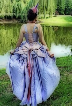 Fantasy Wedding Dress Steampunk Alternative Victorian Fairy Gown-Choose your Color and custom to your size