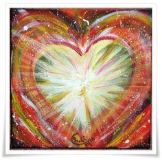 Acrylmalerei - Acrylbild HERZ der Liebe und des Friedens - ein Designerstück von HOAMELIGundSCHEAN bei DaWanda