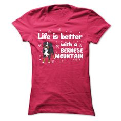 Bernese Mountain B T-Shirts, Hoodies. CHECK PRICE ==► https://www.sunfrog.com/Pets/Bernese-Mountain_B-Ladies.html?id=41382