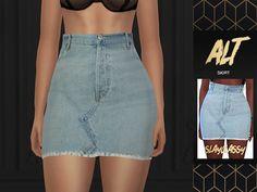 Saia Curta Jeans Sims 4 Teen, Sims Four, Sims Cc, Sims 4 Mods Clothes, Sims 4 Clothing, Sims 4 Traits, Vetements Clothing, Sims 4 Game Mods, Sims 4 Dresses