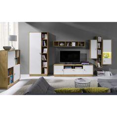 Falco Obývací stěna Parker 3 dub lefkas/bílá Home Decor, Decoration Home, Room Decor, Home Interior Design, Home Decoration, Interior Design